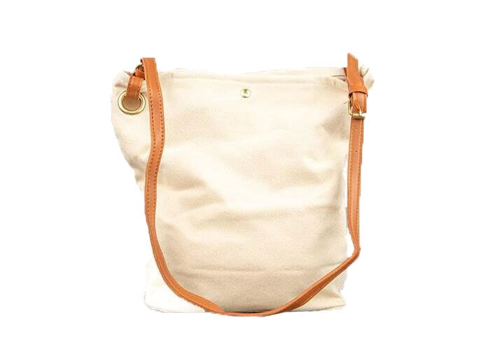 3 Fold Bag With Faux Leather Strap Main Min