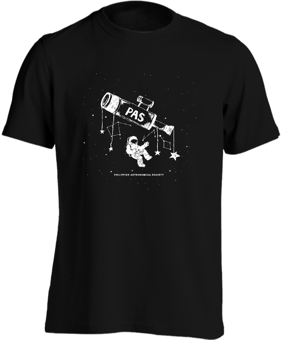 Philippine Astronomical Society Shirt Glow In The Dark Print